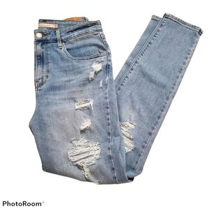 Levi's High Rise Skinny distressed jeans